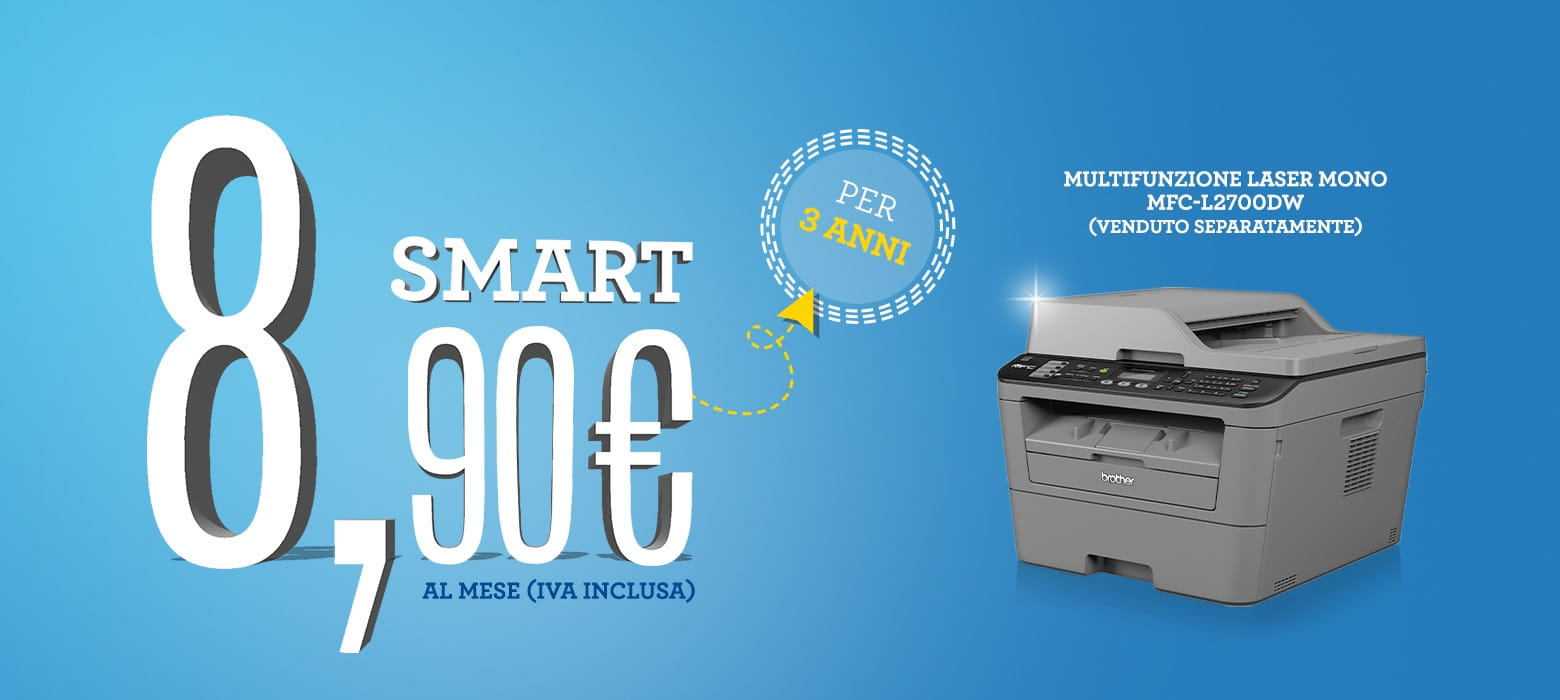 Promozione Smart 8,90 con stampante multifunzione laser Brother MFC-L2700DW