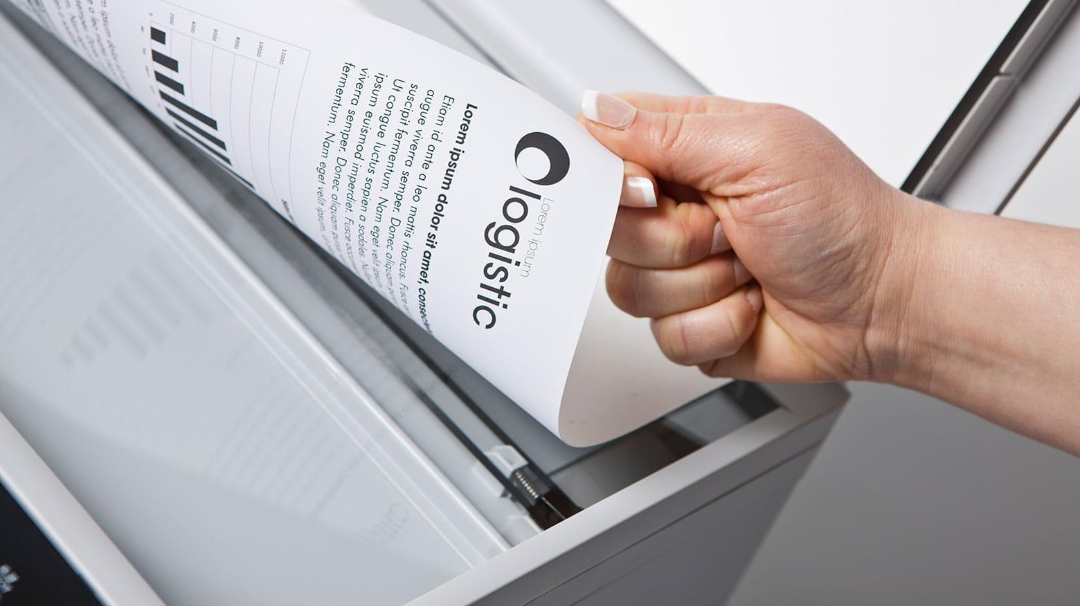 Documenti scansionato con stampante multifunzione Brother