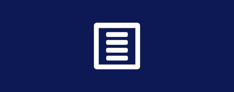 icona form su sfondo blu