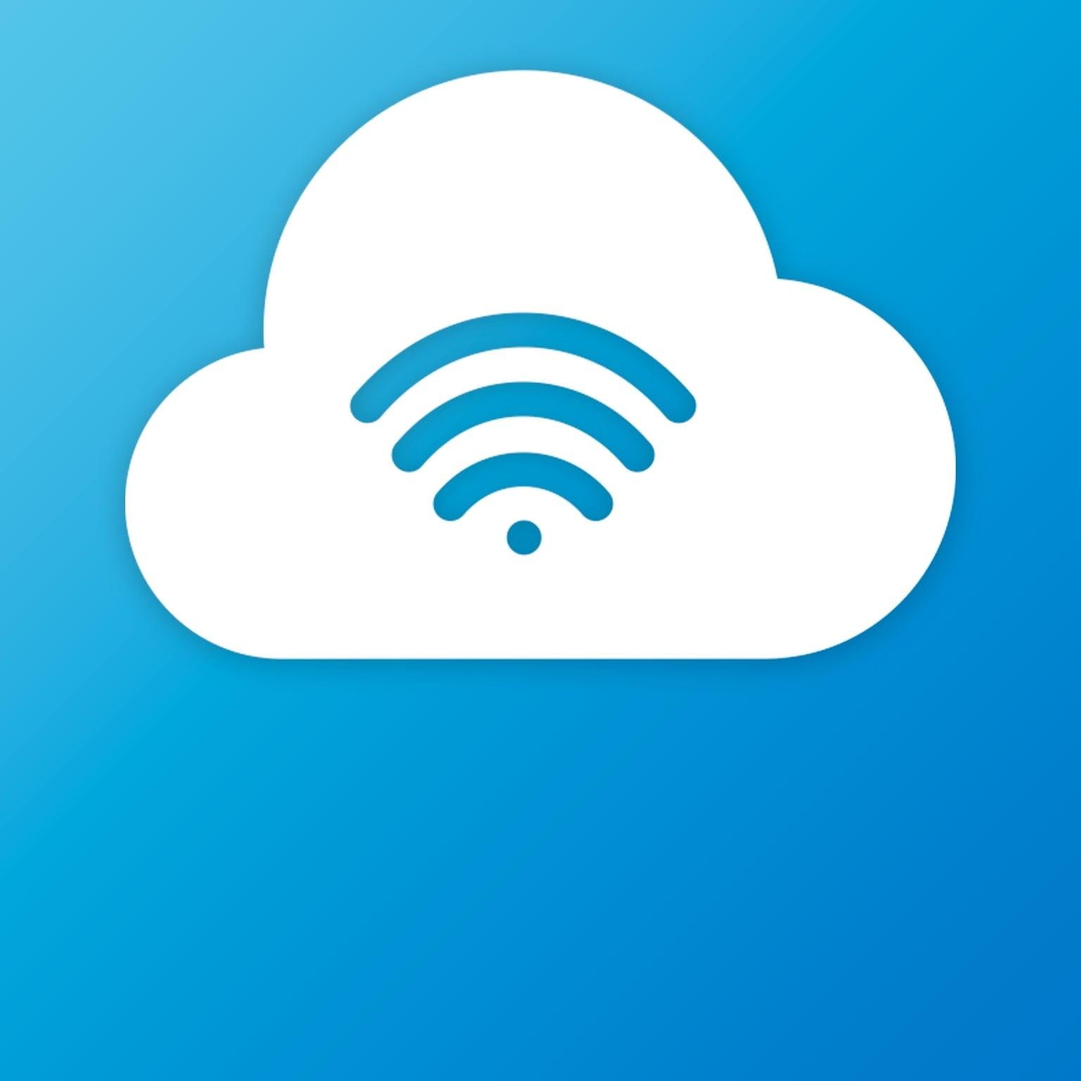 Icona con simbolo del wifi e del cloud