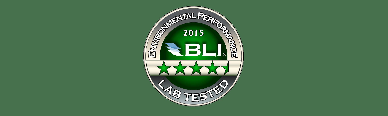 Bli Environmental Performance 2015 Award Lab Tested
