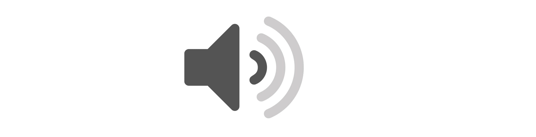 White quiet icon on grey background