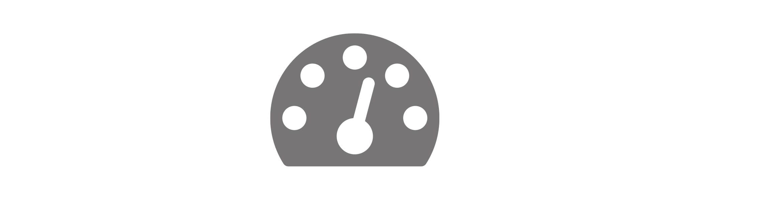White fast icon on grey background
