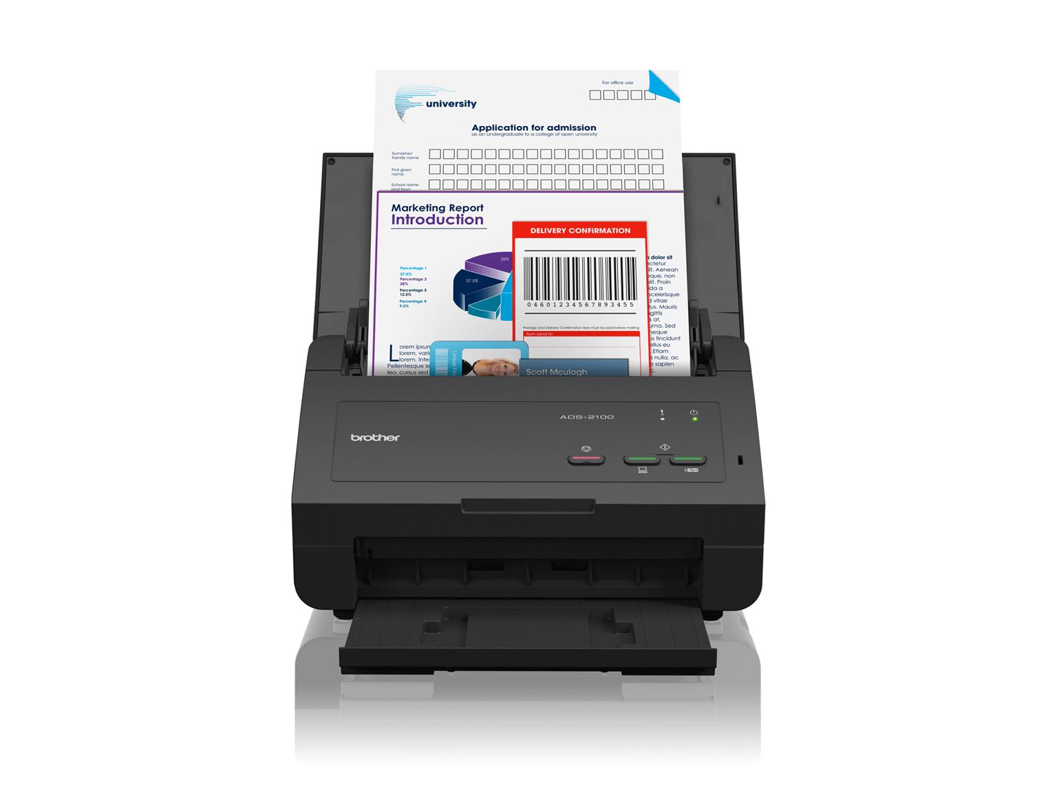 Brother ADS-2100 scanner fronte-retro ad alta velocità