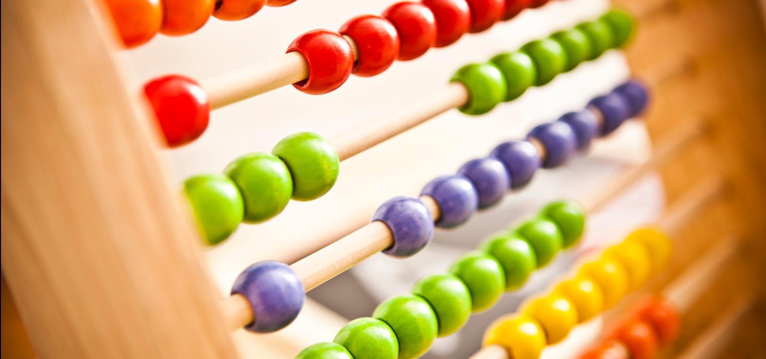 abaco colorato. gioco didattico per bambini