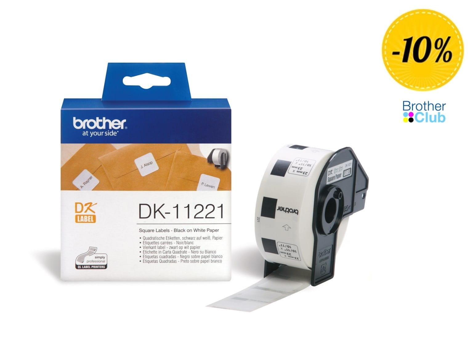 Etichette orginali Brother DK11221 per stampanti di etichette QL