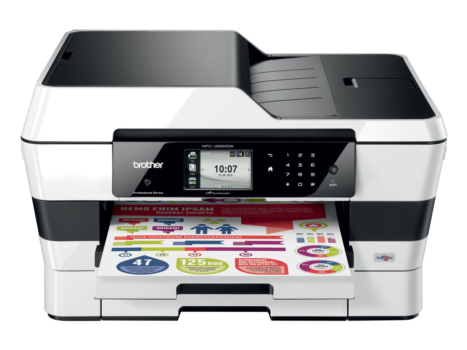 Brother MFC-J6520DW multifunzione con stampa, copia, scansione e fax fino al formato A3