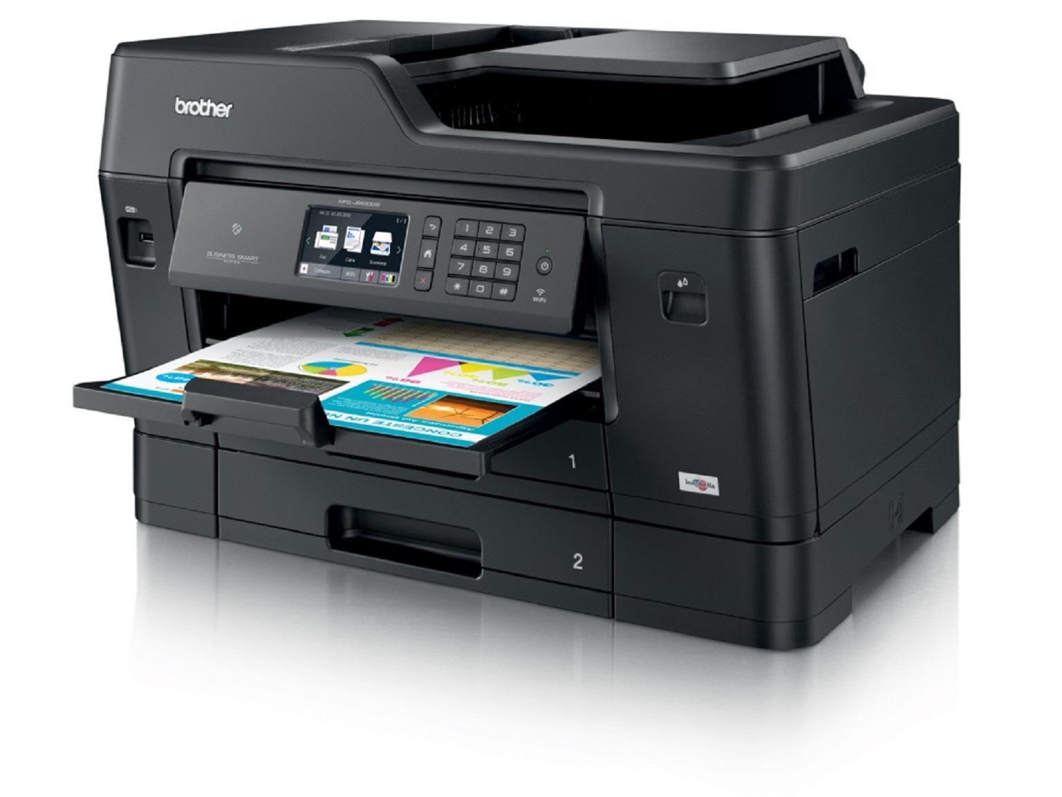 Stampante multifunzione inkjet A3 Brother MFC-J6930DW con stampa a colori in uscita