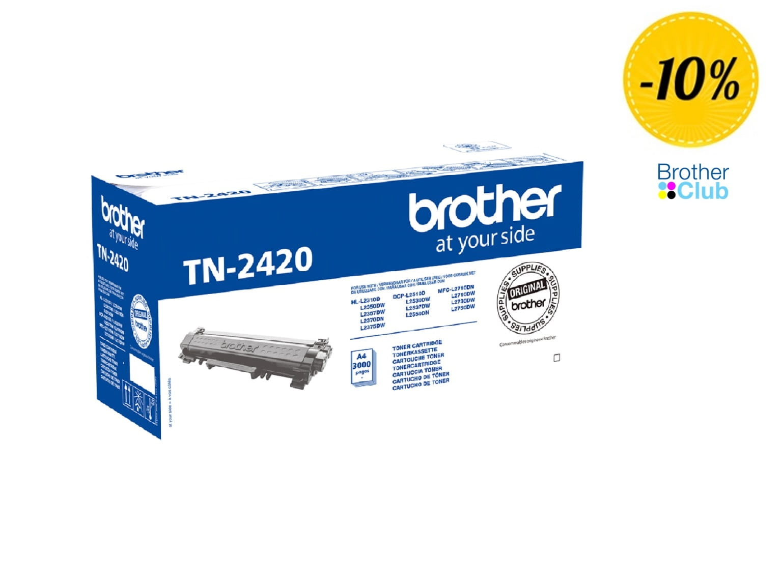 Toner Brother nero originale TN2420