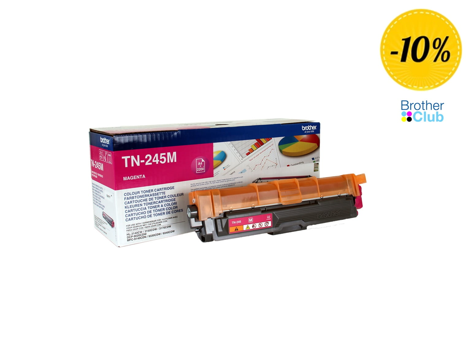 Toner magenta originale Brother TN245M con sconto Brother Club