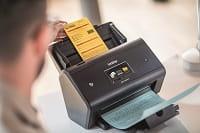 Documento con barcode scansionato con scanner desktop Brother ADS3000N