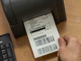 Etichetta stampata con stampante di etichette Brother serie TD-4D
