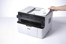 MFC-1910W details- hand and printing laser technology