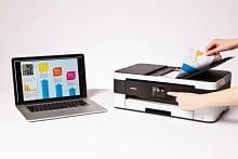 MFC-J4420DW connettività con notebook e Mac
