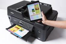 Stampa da tablet con stampante multifunzione inkjet A3 Brother MFC-J6530DW