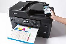 Foglio stampato in A3 con stampante multifunzione professionale inkjet Brother MFC-J6930DW