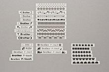 PT-D210 lettere simboli etichette