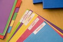 Quaderno etichettati con etichettatrice Brother P-touch