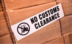"labelling for stocking, ""no customs clearance"""