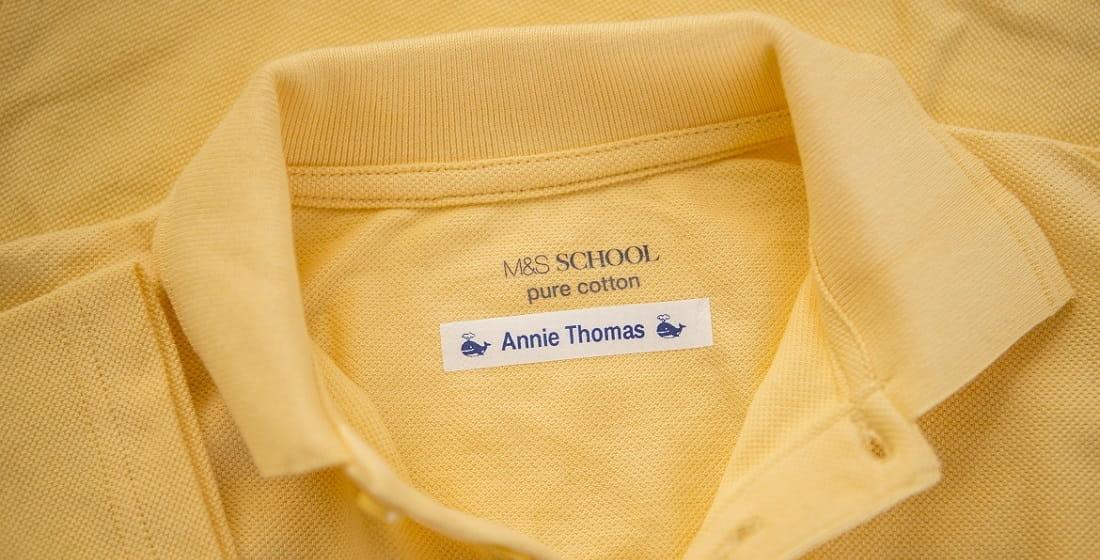 maglietta gialla con nastro in tessuto Brother TZe-FA3