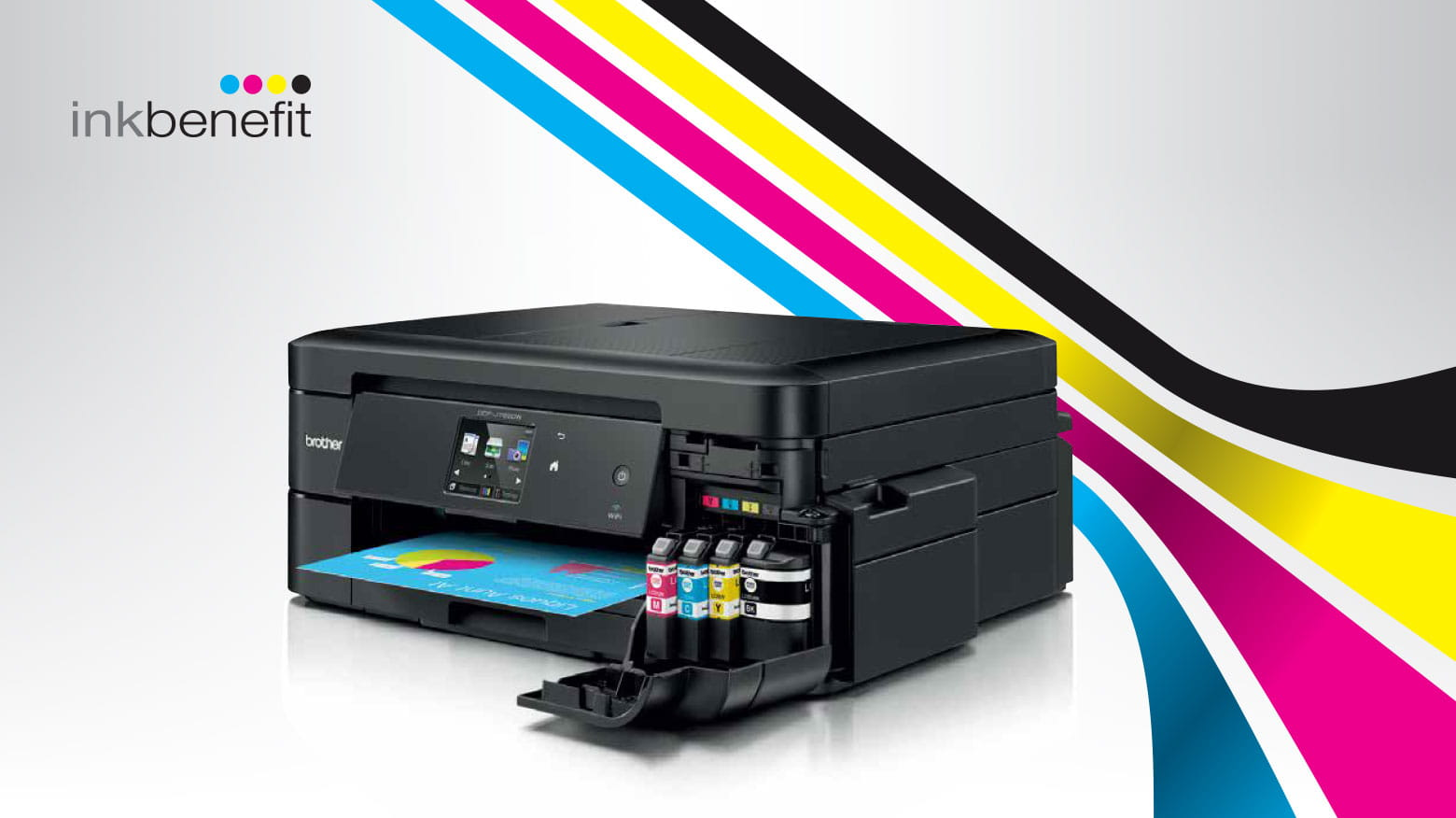 Stampante multifunzione inkjet Brother con Inkbenefit