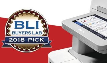 Stampante multifunzione laser a colori Brother MFCL9570CDW con il logo del premio Winter 2018 Pick Award