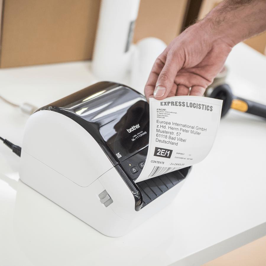 QL-1100 stampante di etichette professionale per grandi formati fino a 4'' 8