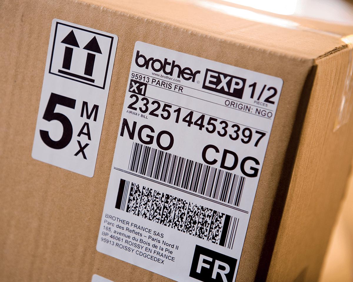 QL-1110NWB Stampante di etichette professionale per grandi formati fino a 4'', con Ethernet, Wi-Fi, Bluetooth 5