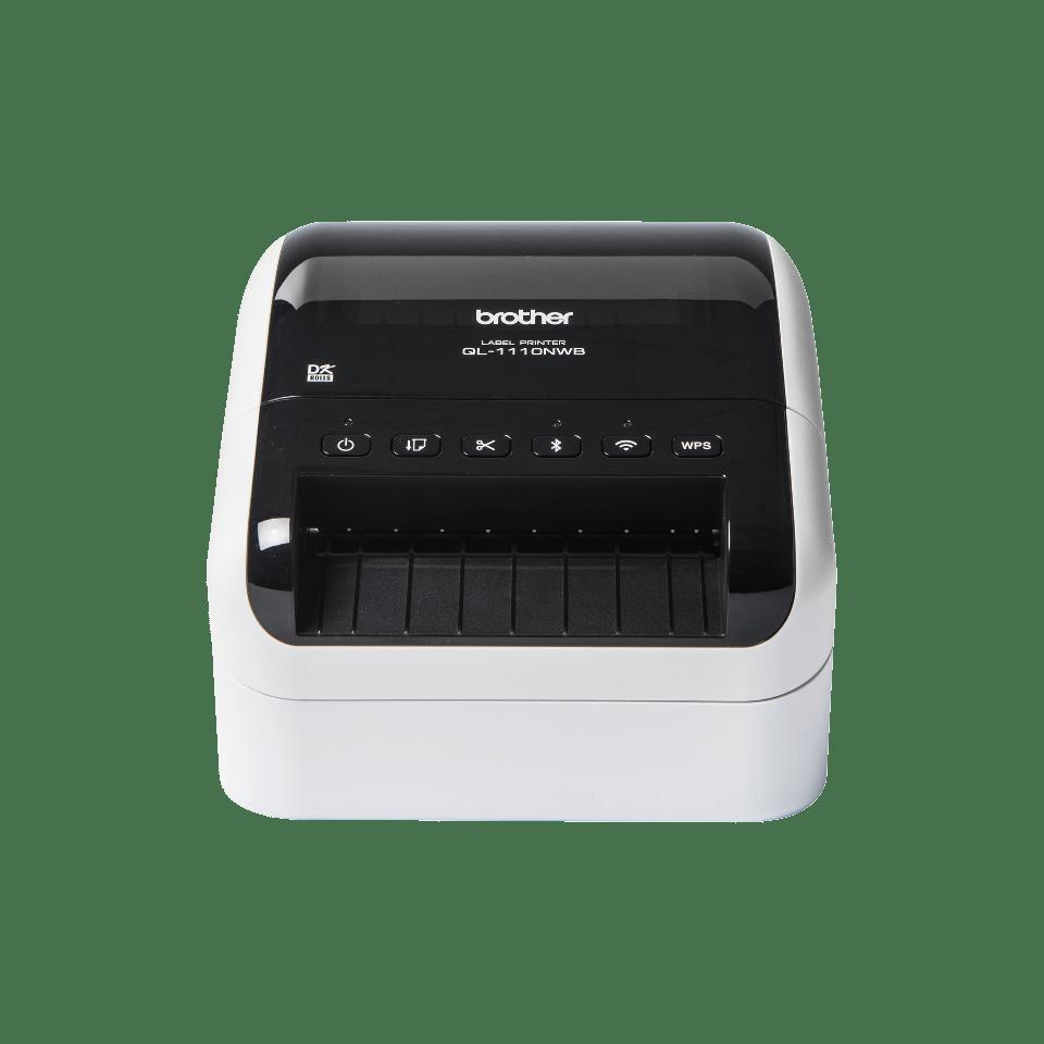 QL-1110NWB Stampante di etichette professionale per grandi formati fino a 4'', con Ethernet, Wi-Fi, Bluetooth 3