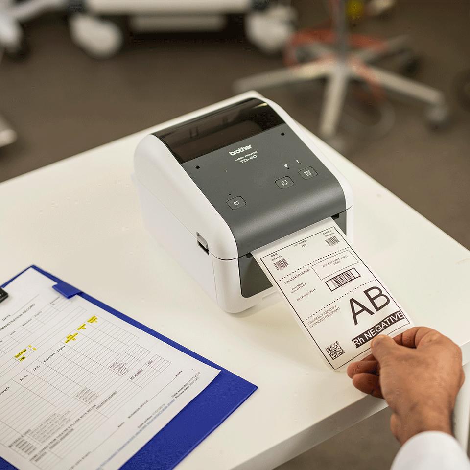 TD-4410D Stampante di etichette desktop professionale 6