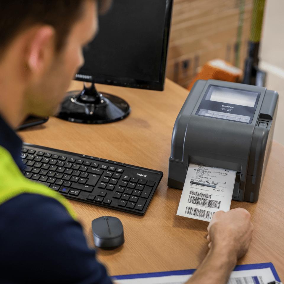 Brother TD-4420TN Stampante di etichette desktop professionale a trasferimento termico 6