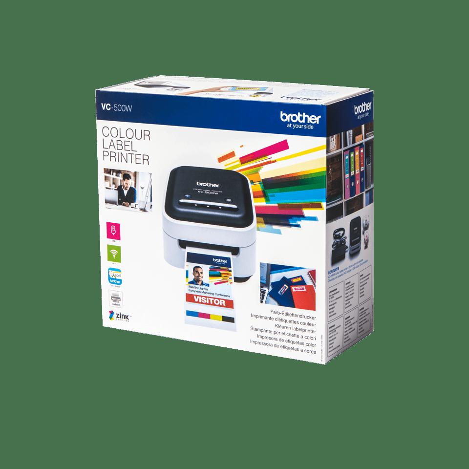 VC-500W Stampante di etichette a colori con Wi-Fi 3