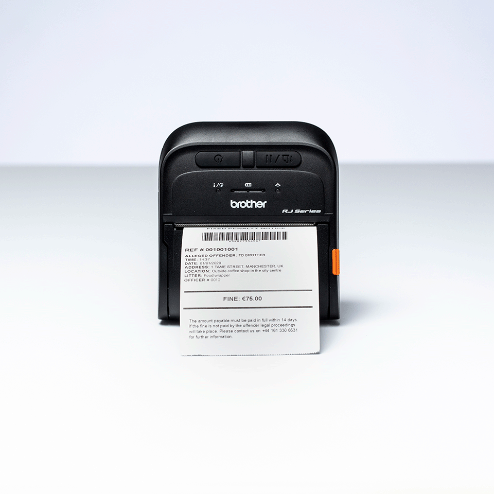 Brother RJ-3055WB stampante portatile per etichette e ricevute 6