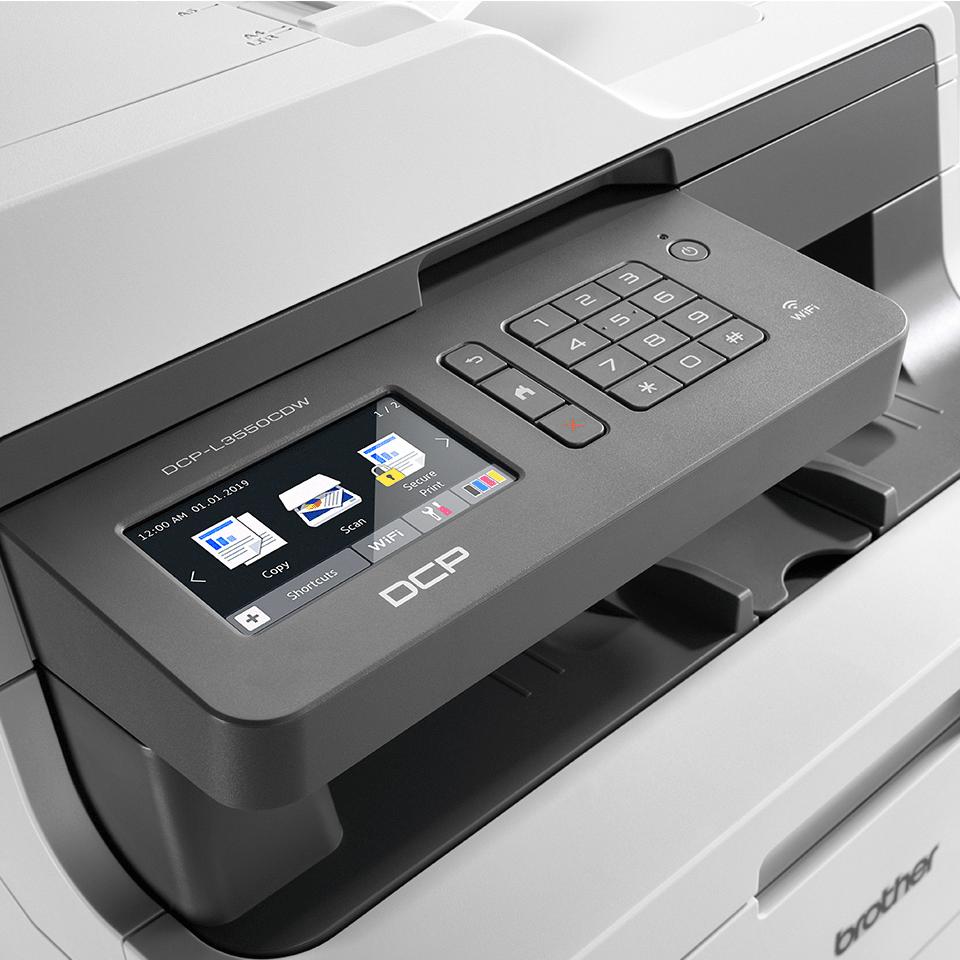 DCP-L3550CDW Stampante multifunzione LED a colori con Wi-Fi, stampa fronte-retro, Ethernet 4