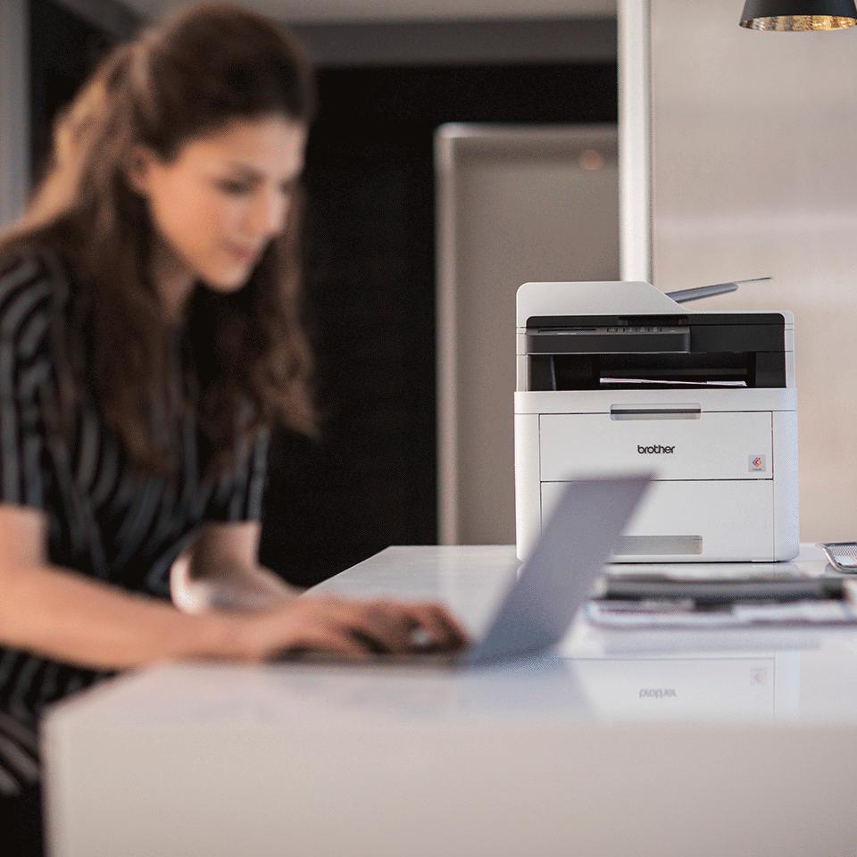 MFC-L3730CDN Stampante multifunzione LED a colori con stampa fronte-retro automatica, Ethernet 4