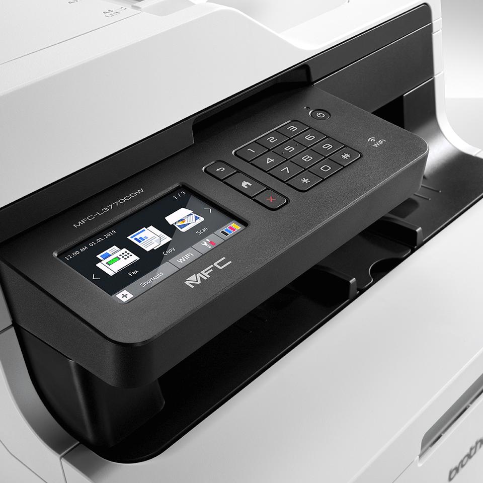 MFC-L3770CDW Stampante multifunzione LED a colori con Wi-Fi, Dual CIS, Ethernet, NFC 4
