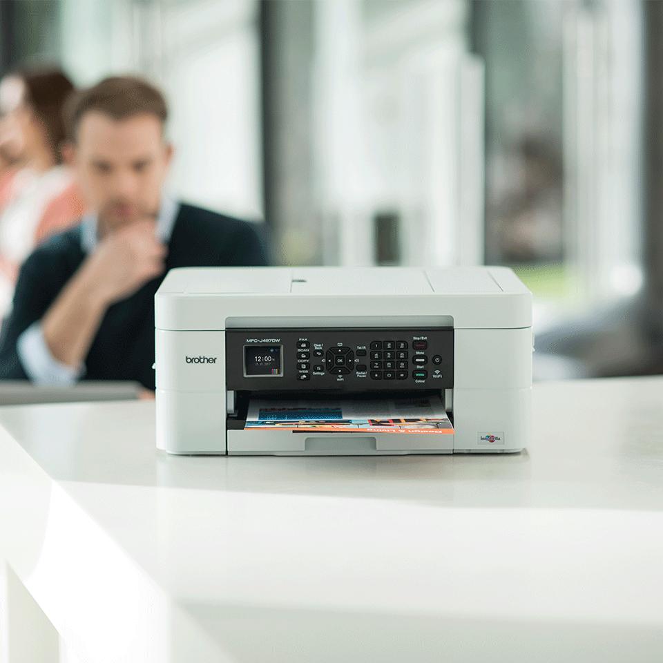 MFC-J497DW Stampante multifunzione inkjet compatta con Wi-Fi 3