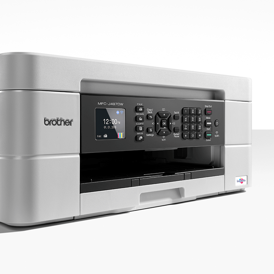 MFC-J497DW Stampante multifunzione inkjet compatta con Wi-Fi 6