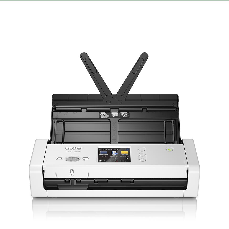 ADS-1700W Scanner desktop compatto con duplex (DUAL CIS) e Wi-Fi 5