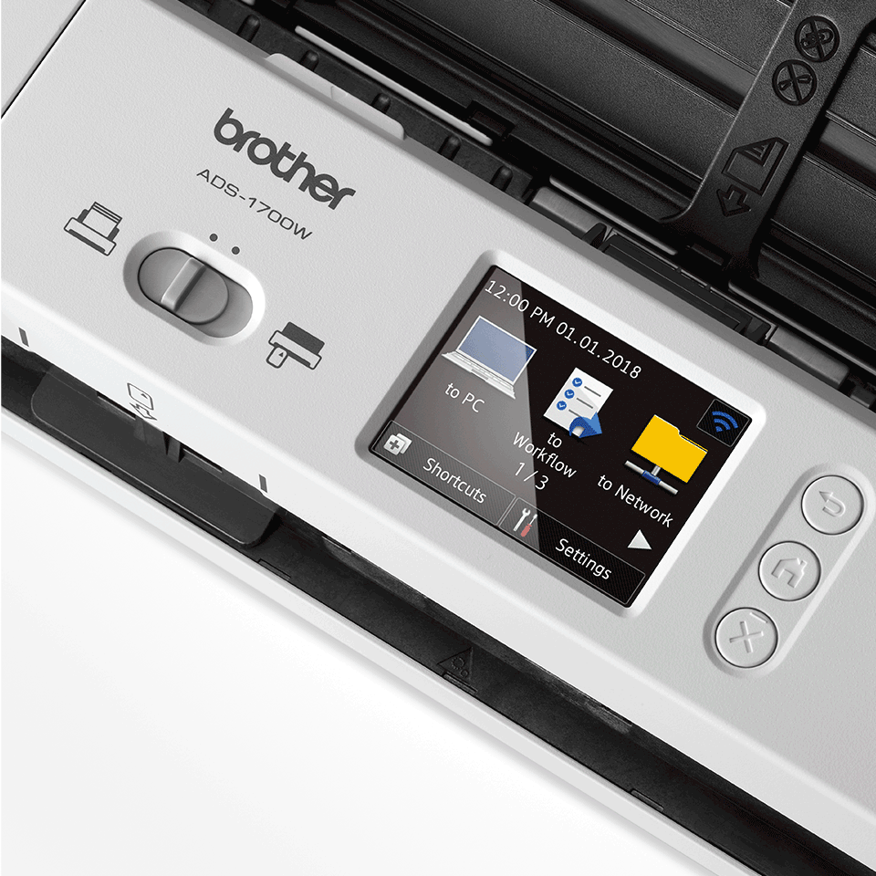 ADS-1700W Scanner desktop compatto con duplex (DUAL CIS) e Wi-Fi 7