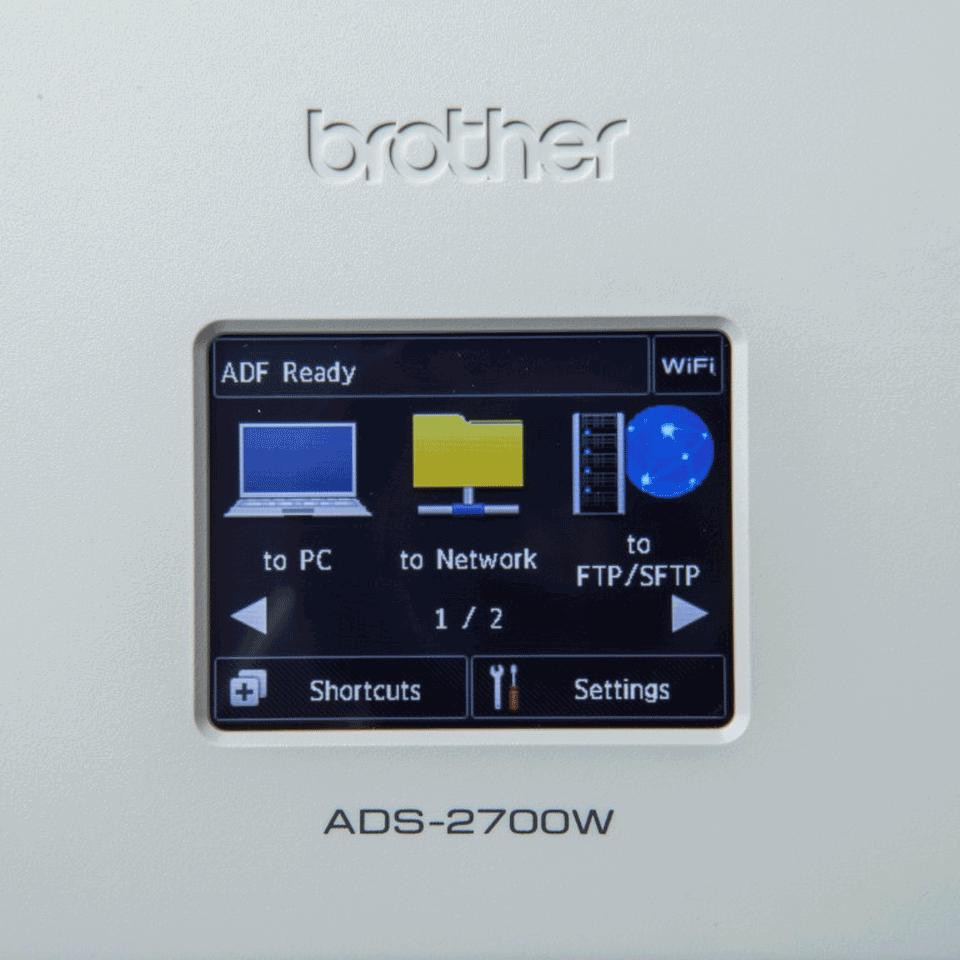 ADS-2700W Scanner documentale con rete cablata e wireless 7