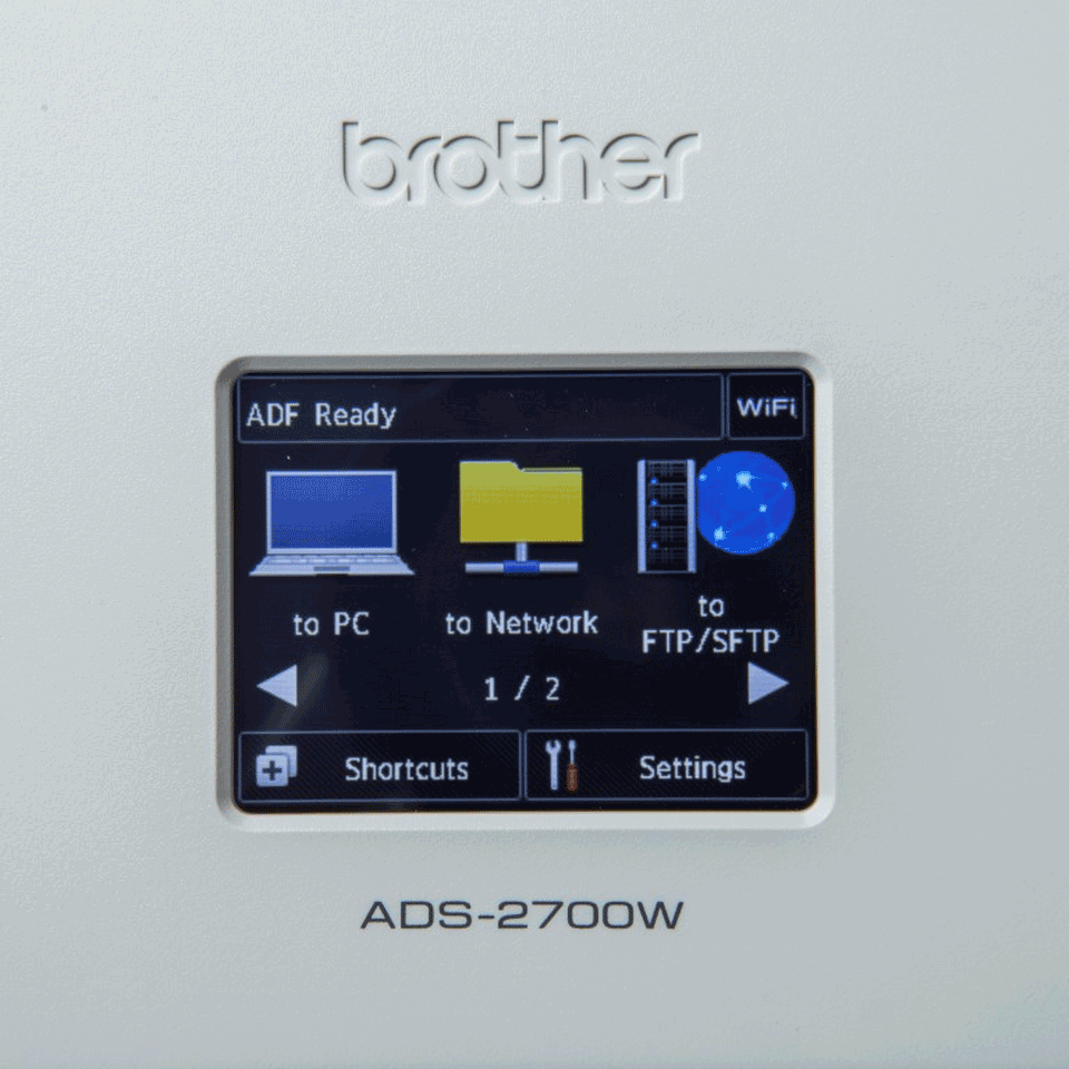 ADS-2700W Scanner documentale con rete cablata e wireless 6