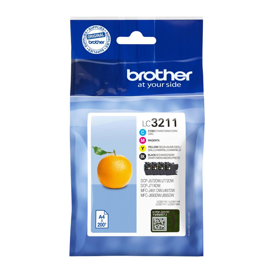 Brother LC3211VAL Confezione 4 cartucce inkjet originali 2