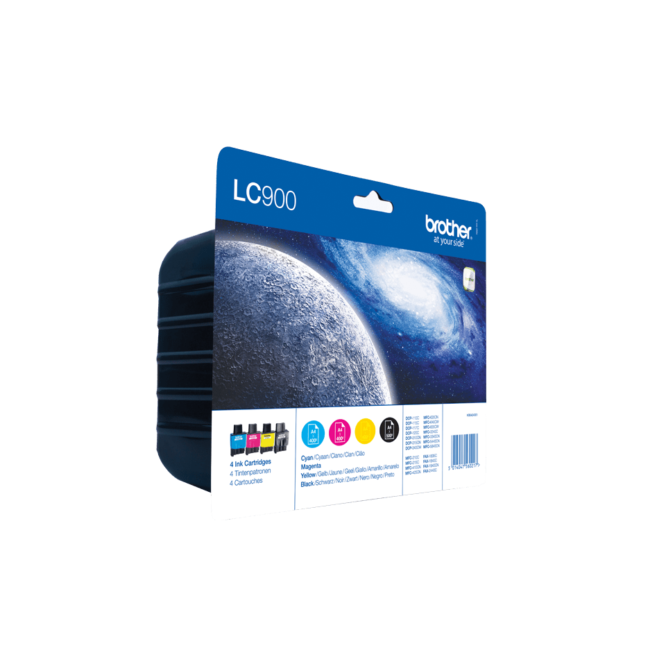 Brother LC-900VALBP Confenzione da 4 cartucce inkjet originali 2