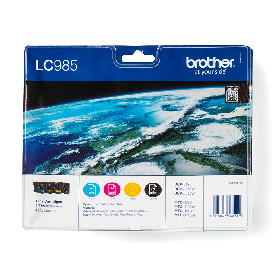 Confezione multipla di cartucce d'inchiostro originali Brother LC985VALBP 0