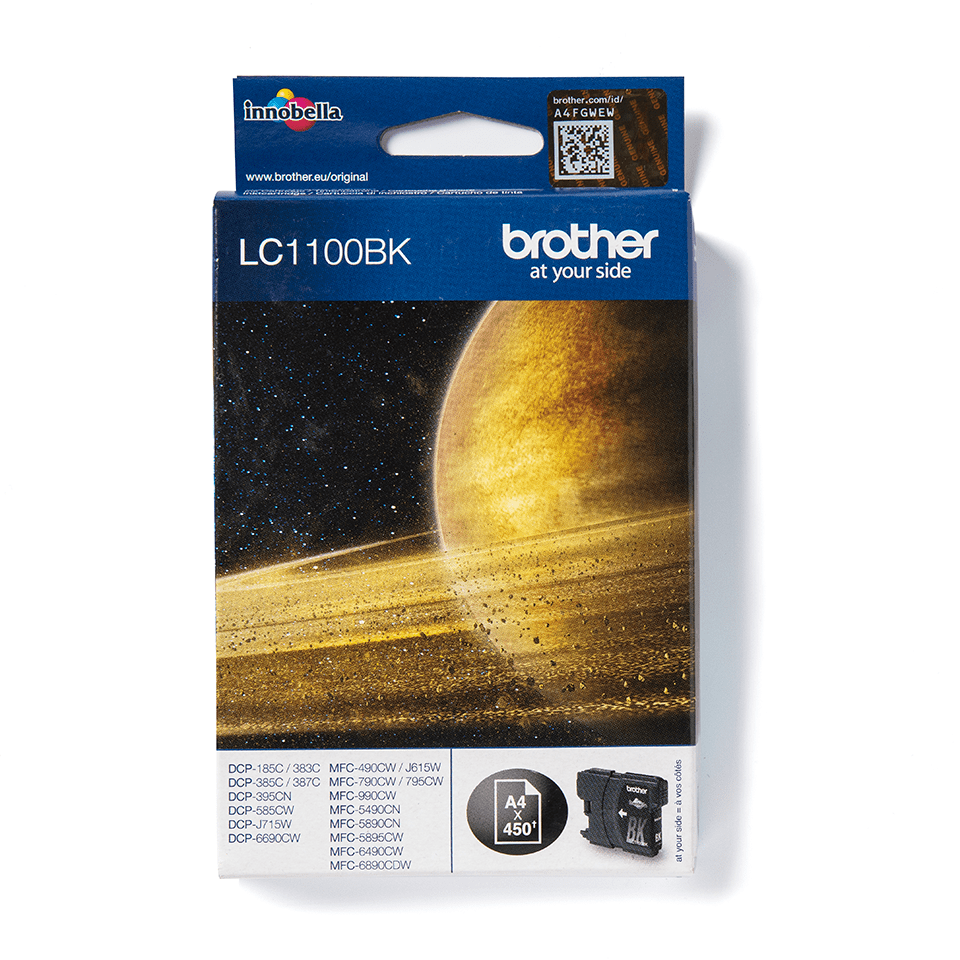 Brother LC1100BK Cartuccia inkjet originale - nero