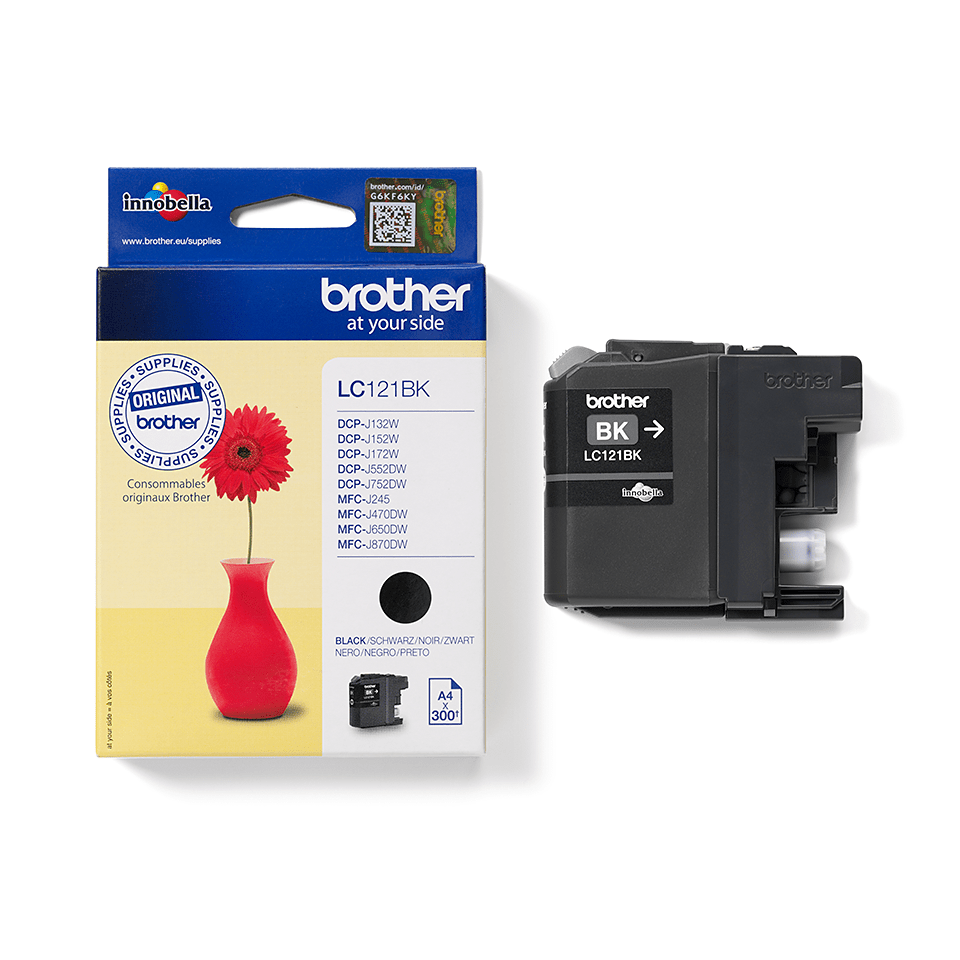 Cartuccia di inchiostro originale Brother LC121BK – Nero 2