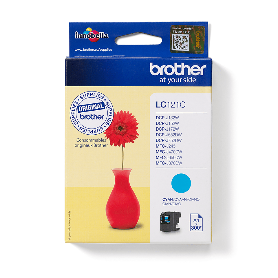 Brother LC121C Cartuccia inkjet originale - ciano 2