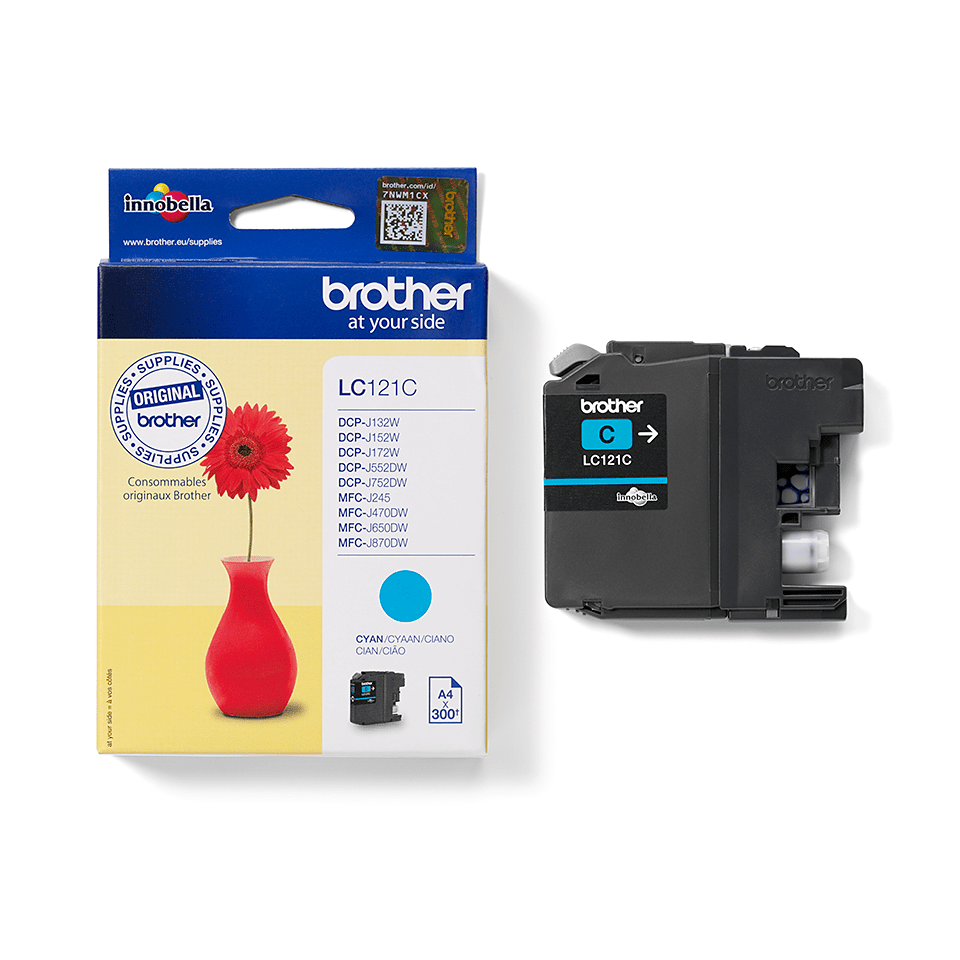 Brother LC121C Cartuccia inkjet originale - ciano