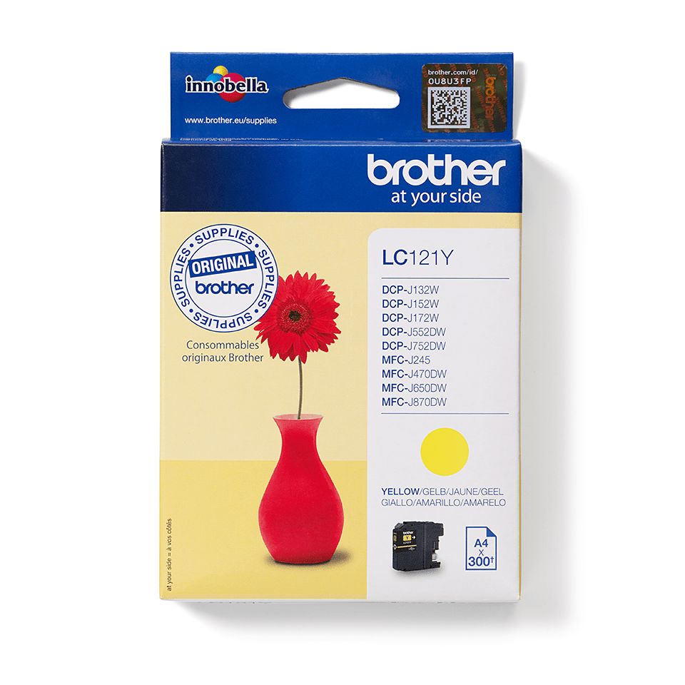 Brother LC121Y Cartuccia inkjet originale - giallo